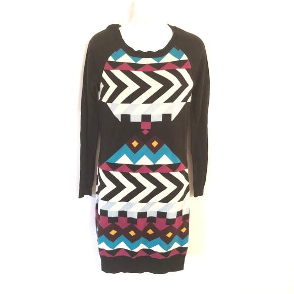Jessica Simpson Multicolor Sweater Dress Size M